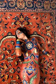 bodypainting in persian style