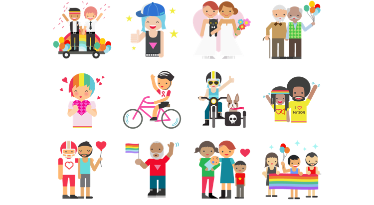 facebook pride stickers campaign