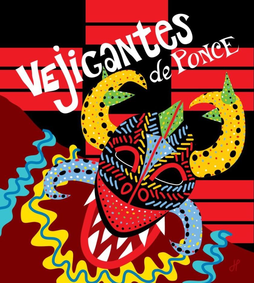 peanut logo design Unique Vejigantes de Ponce Puerto Rico Poster design Copyright © Joanne Photos